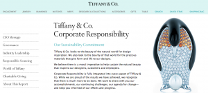 Tiffany & Co: CSR section of the website